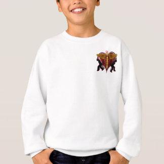 Caduceus Heart V-1 pocket only Sweatshirt