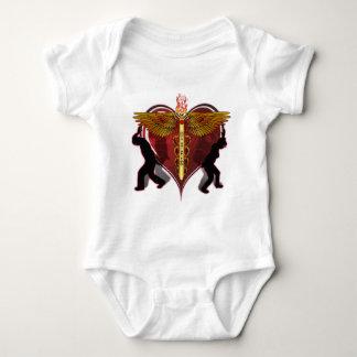 Caduceus Heart V-1 T-shirt