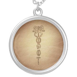 Caduceus Life Giving Wand Roman Custom Necklace