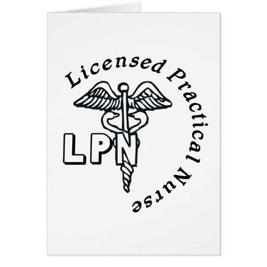 CADUCEUS LPN LOGO LICENSED PRACTICAL NURSE CARD