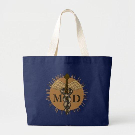 caduceus M.D. Large Tote Bag