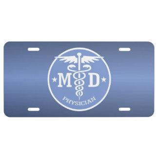 Caduceus MD 2 License Plate
