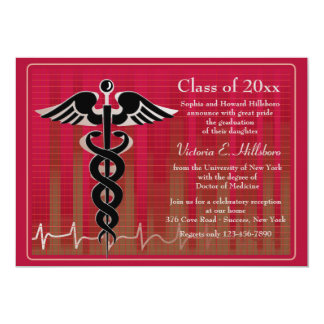 Caduceus Medical Graduation Invitation