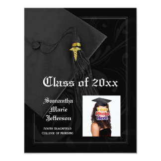 Caduceus Medical School or Nurse Photo Graduation Card