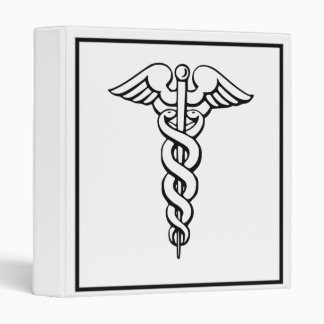 Caduceus Medical Symbol Binder