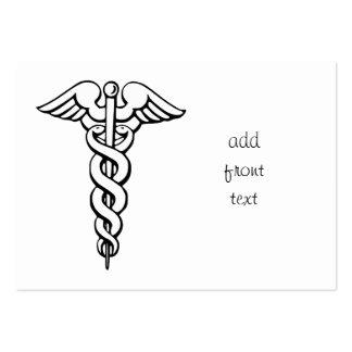 Caduceus Medical Symbol Large Business Cards (Pack Of 100)