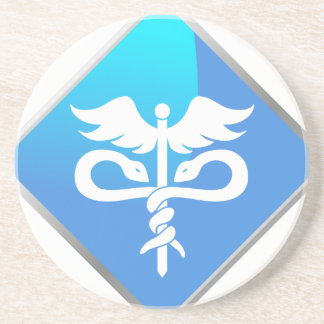 Caduceus Medical Symbol Drink Coaster