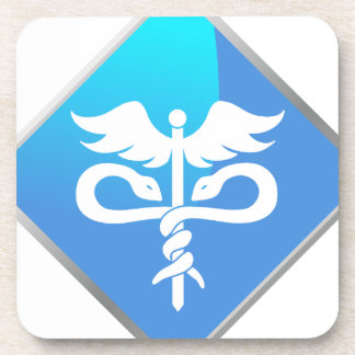 Caduceus Medical Symbol Beverage Coasters