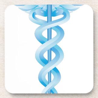Caduceus Medical Symbol Beverage Coaster