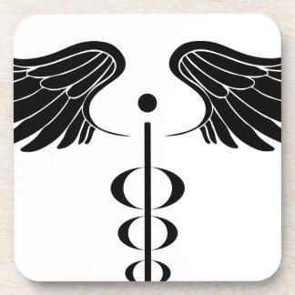 Caduceus Medical Symbol Drink Coasters