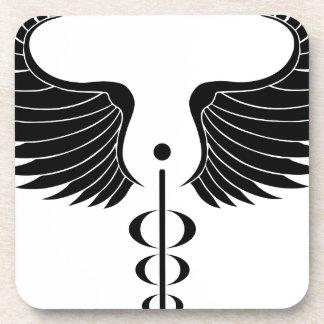 Caduceus Medical Symbol Coasters