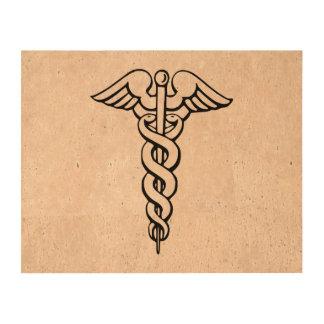 Caduceus Medical Symbol Cork Paper Print