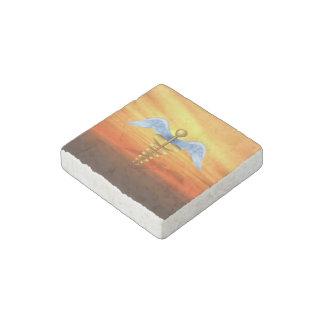 Caduceus Medical Symbol Stone Magnet