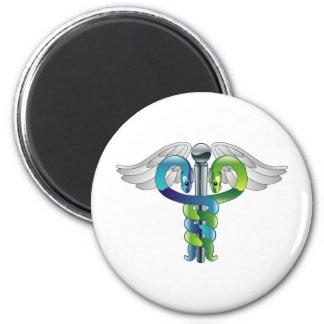 Caduceus medical symbol refrigerator magnet