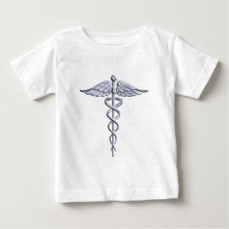 Caduceus Medical Symbol on Black T-shirt