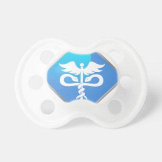 Caduceus Medical Symbol Pacifier