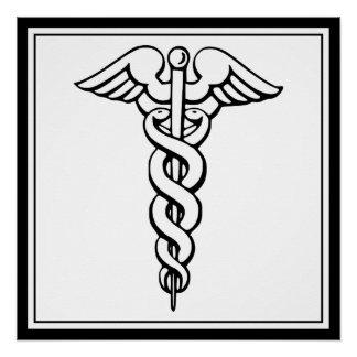 Caduceus Medical Symbol Perfect Poster