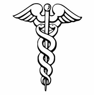 Caduceus Medical Symbol Cut Out