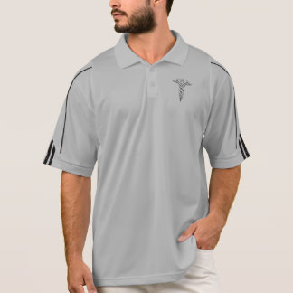 Caduceus medical symbol polo shirt