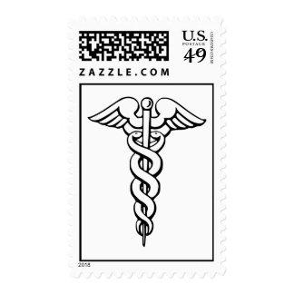 Caduceus Medical Symbol Postage Stamps