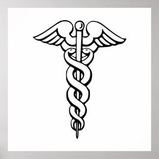 Caduceus Medical Symbol Poster