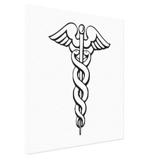Caduceus Medical Symbol Stretched Canvas Prints
