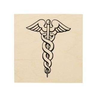 Caduceus Medical Symbol Wood Prints