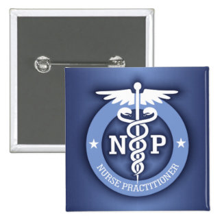 Caduceus NP (blue) Pinback Button