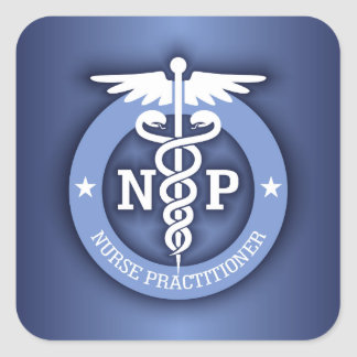 Caduceus NP (blue) Square Sticker
