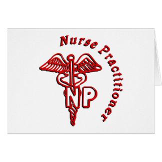 CADUCEUS NP LOGO NURSE PRACTITIONER CARD