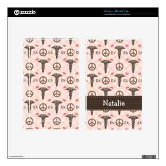 Caduceus Nurse RN Kindle Fire Skin