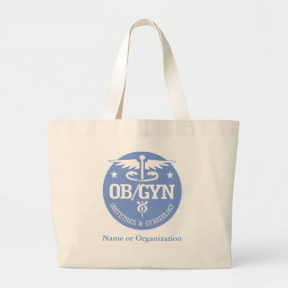 Caduceus OBGYN gift ideas Large Tote Bag