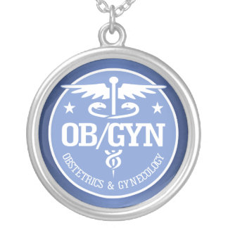 Caduceus OBGYN gift ideas Silver Plated Necklace