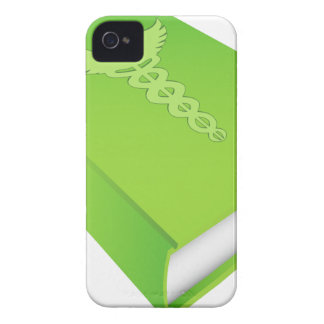 Caduceus on Green Book iPhone 4 Case-Mate Cases