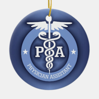 Caduceus PA 2 (blue) Double-Sided Ceramic Round Christmas Ornament