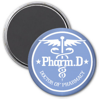 Caduceus PharmD 2 3 Inch Round Magnet