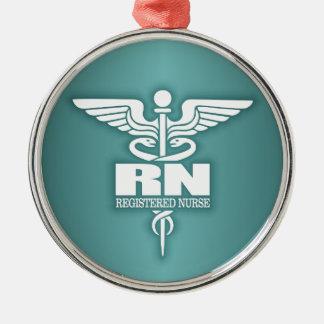 Caduceus RN 3 Metal Ornament