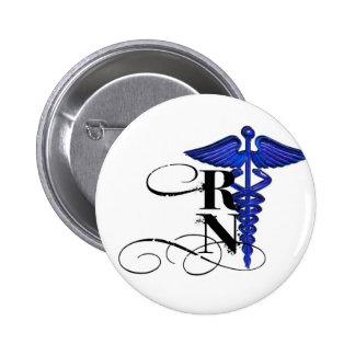 Caduceus RN Design Button