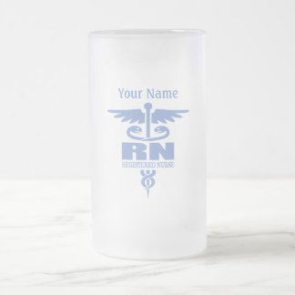 Caduceus RN gift ideas Frosted Glass Beer Mug