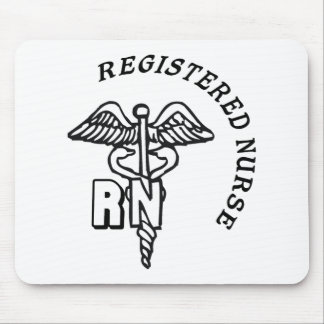 CADUCEUS RN LOGO REGISTERED NURSE MOUSE PAD