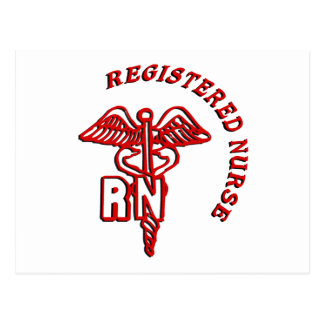 CADUCEUS RN LOGO REGISTERED NURSE POSTCARD