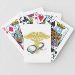 Caduceus stethoscope medical concept poker deck