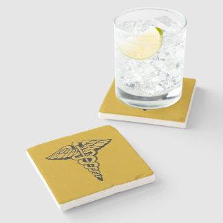 Caduceus Stone Beverage Coaster