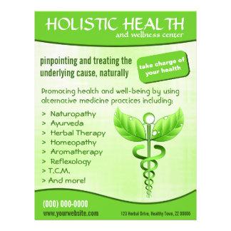 "Caduceus Symbol 8.5"" x 11"" Holistic Health Flyers Flyer"