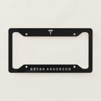Caduceus Symbol Licence Plate Frame
