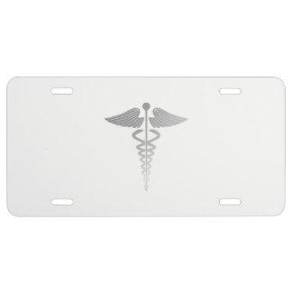 Caduceus Symbol License Plate