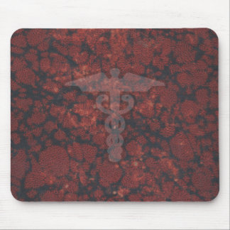 Caduceus the medical symbol for a doctor or nurse mouse pads