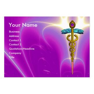 CADUCEUS, vibrant blue turquase gold amethyst Business Card