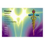CADUCEUS,  vibrant gold amethyst Business Card