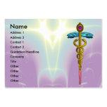 CADUCEUS,  vibrant gold amethyst Business Cards